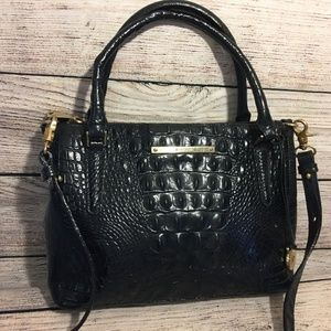 BRAHMIN Croc Leather Small Lincoln Satchel
